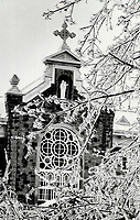 1983 FILE PHOTO - ARCHIVES -<br /> <br /> the Cistercian Abbey of Notre-Dame de Lac; nestled in deep snow and woods at Oka; Que<br /> <br /> PHOTO :  Mike Slaughter  - Toronto Star Archives - AQP