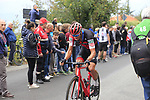 Freddy Ovett (AUS) BMC Racing Team climbs the Superga for the 1st ascent during the 99th edition of Milan-Turin 2018, running 200km from Magenta Milan to Superga Basilica Turin, Italy. 10th October 2018.<br /> Picture: Eoin Clarke | Cyclefile<br /> <br /> <br /> All photos usage must carry mandatory copyright credit (© Cyclefile | Eoin Clarke)