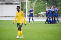 20190227 - LARNACA , CYPRUS : Finnish team celebrating their goal pictured during a women's soccer game between the South African Banyana Banyana and Finland , on Wednesday 27 February 2019 at the GSZ Stadium in Larnaca , Cyprus . This is the first game in group A for both teams during the Cyprus Womens Cup 2019 , a prestigious women soccer tournament as a preparation on the Uefa Women's Euro 2021 qualification duels and the Fifa World Cup France 2019. PHOTO SPORTPIX.BE | STIJN AUDOOREN