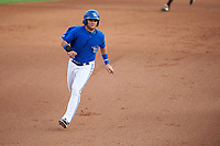 Dunedin Blue Jays designated hitter Bo Bichette (10) running the bases in the bottom of the fourth inning during a game against the Bradenton Marauders on July 17, 2017 at Florida Auto Exchange Stadium in Dunedin, Florida.  Bradenton defeated Dunedin 7-5.  (Mike Janes/Four Seam Images)