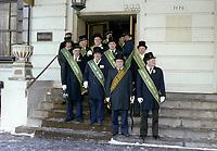 Defile de la Saint-Patrick, 1980 (date excate inconnue)<br /> <br /> PHOTO : Agence Quebec Presse<br /> <br /> Defile de la Saint-Patrick, 1980 (date excate inconnue)<br /> <br /> PHOTO : Agence Quebec Presse
