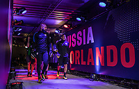 Orlando, FL - Friday Oct. 06, 2017: Tim Howard, Nick Rimando during a 2018 FIFA World Cup Qualifier between the men's national teams of the United States (USA) and Panama (PAN) at Orlando City Stadium.
