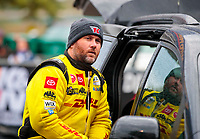 Oct 3, 2020; Madison, Illinois, USA; NHRA top fuel driver Shawn Langdon during qualifying for the Midwest Nationals at World Wide Technology Raceway. Mandatory Credit: Mark J. Rebilas-USA TODAY Sports