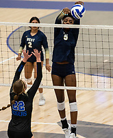 Trinity Luckett (5) of Bentonville West  bats ball down against Rogers at Rogers High School, Rogers, AR, on Thursday, September 9, 2021 / Special to NWADG David Beach