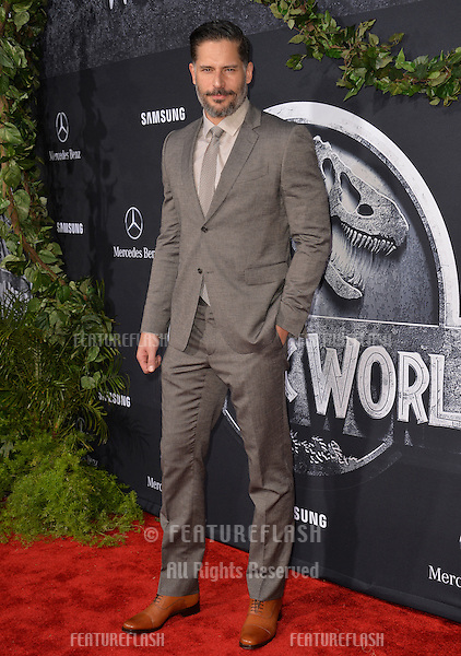 """Joe Manganiello at the world premiere of """"Jurassic World"""" at the Dolby Theatre, Hollywood.<br /> June 10, 2015  Los Angeles, CA<br /> Picture: Paul Smith / Featureflash"""