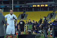 South captain Sam Whitelock is interviewed after the rugby match between North and South at Sky Stadium in Wellington, New Zealand on Saturday, 5 September 2020. Photo: Dave Lintott / lintottphoto.co.nz
