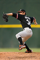 Starting pitcher Jake Arrieta #34 of the Norfolk Tides in action versus the Charlotte Knights at Knights Stadium August 14, 2009 in Fort Mill, South Carolina. (Photo by Brian Westerholt / Four Seam Images)