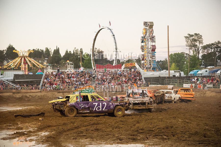 4th day of the 76th Amador County Fair, Plymouth, Calif.<br /> <br /> Annual Destruction Derby
