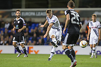 Eric Dier of Tottenham Hotspur hits a shot at goal during the UEFA Europa League match between Tottenham Hotspur and Qarabag FK at White Hart Lane, London, England on 17 September 2015. Photo by Andy Rowland.