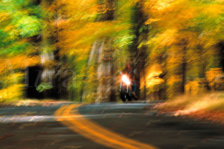 Blurred motorcycle