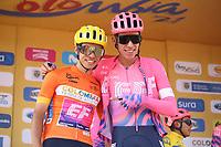 TUNJA - COLOMBIA, 15-02-2020: Sergio Higuita (COL) y Rigoberto Uran (COL), EF EDUCATION FIRST, durante la quinta etapa del Tour Colombia 2.1 2020 con un recorrido de 180,5 km que se corrió entre Paipa, Boyacá, y Zipaquirá, Cundinamarca. / Sergio Higuita (COL) and Rigoberto Uran (COL), EF EDUCATION FIRST, during the fourth stage of 180,5 km as part of Tour Colombia 2.1 2020 that ran between Paipa, Boyaca, y Zipaquirá, Cundinamarca.  Photo: VizzorImage / Darlin Bejarano / Cont