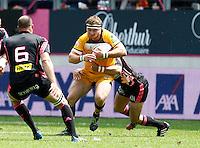 Photo: Richard Lane/Richard Lane Photography. Stade Francais v London Wasps. European Rugby Champions Cup Play-Off. 24/05/2014. Wasps' Matt Mullan attacks.