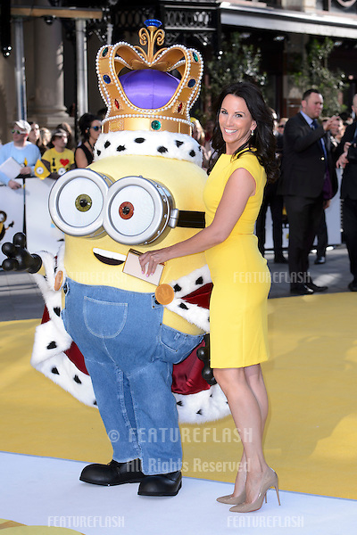 """Andrea McLean at the world premiere of """"Minions"""" at the Odeon, Leicester Square, London.<br /> June 11, 2015  London, UK<br /> Picture: Dave Norton / Featureflash"""