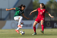 Bradenton, FL - Sunday, June 12, 2018: Natalia Mauleon, Hannah Bebar during a U-17 Women's Championship Finals match between USA and Mexico at IMG Academy.  USA defeated Mexico 3-2 to win the championship.