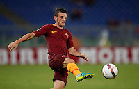 Calcio, Europa League: Roma vs Astra Giurgiu. Roma, stadio Olimpico, 29 settembre 2016.<br /> Roma's Alessandro Florenzi in action during the Europa League Group E soccer match between Roma and Astra Giurgiu at Rome's Olympic stadium, 29 September 2016. Roma won 4-0.<br /> UPDATE IMAGES PRESS/Isabella Bonotto