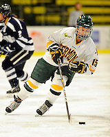 11 February 2011: University of Vermont Catamount defender Hannah Westbrook, a Senior from Laramie, WY, in action against the University of New Hampshire Wildcats at Gutterson Fieldhouse in Burlington, Vermont. The Lady Catamounts defeated the visiting Lady Wildcats 4-2 in Hockey East play. Mandatory Credit: Ed Wolfstein Photo
