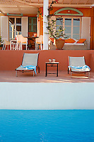 relaxing deck chairs