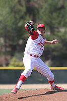 Brady Aiken of Cathedral Catholic High School pitches against Scripps Ranch High School at Cathedral Catholic High School on May 9, 2014 in San Diego, California. (Larry Goren/Four Seam Images)