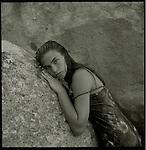 Fashion Model Virgin Gorda, British Virgin Islands.