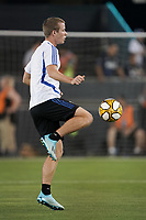 SAN JOSE, CA - SEPTEMBER 25: Jackson Yueill #14  during warmups prior to a Major League Soccer (MLS) match between the San Jose Earthquakes and the Philadelphia Union on September 25, 2019 at Avaya Stadium in San Jose, California.