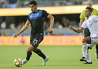 SAN JOSE, CA - AUGUST 31: Andrés Ríos of the San Jose Earthquakes during a Major League Soccer (MLS) match between the San Jose Earthquakes and the Orlando City SC  on August 31, 2019 at Avaya Stadium in San Jose, California.
