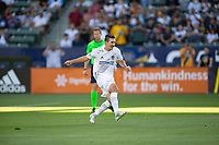 CARSON, CA - JUNE 19: Sacha Kljestan #16 of the Los Angeles Galaxy with a PK during a game between Seattle Sounders FC and Los Angeles Galaxy at Dignity Health Sports Park on June 19, 2021 in Carson, California.