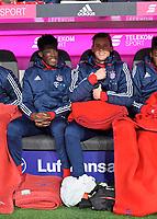 13.12.2017,  Football 1.Liga 2017/2018, 14. match day, FC Bayern Muenchen - 1.FC Koeln, in Allianz-Arena Muenchen. v.li: Kwasi Okyere Wriedt (Bayern Muenchen) and goalkeeper Leo Weinkauf (FC Bayern Muenchen)  *** Local Caption *** © pixathlon<br /> <br /> +++ NED + SUI out !!! +++<br /> Contact: +49-40-22 63 02 60 , info@pixathlon.de