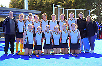 The Iona team.  2020 Lower North Island Secondary Schools Hockey Girls Premiership tournament 7th place playoff between Taradale College and Iona College at Massey University in Palmerston North, New Zealand on Friday, 4 September 2020. Photo: Dave Lintott / lintottphoto.co.nz