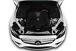 Car stock 2020 Mercedes Benz E-Class  E450 5 Door Wagon engine high angle detail view