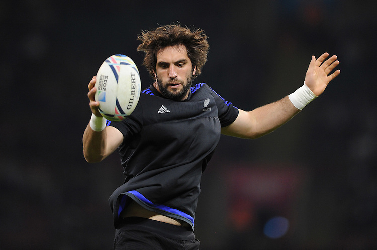 Samuel Whitelock of New Zealand warms up before Match 23 of the Rugby World Cup 2015 between New Zealand and Georgia - 02/10/2015 - Millennium Stadium, Cardiff<br /> Mandatory Credit: Rob Munro/Stewart Communications
