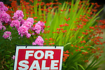 'For Sale' Sign with Flowers