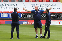 Wigan Athletic Manager, Paul Cook, discusses tactics ahead of kick-off during Charlton Athletic vs Wigan Athletic, Sky Bet EFL Championship Football at The Valley on 18th July 2020