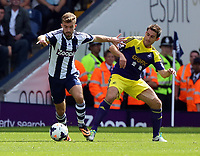 Pictured: Angel Rangel of Swansea (R).  Sunday 01 September 2013<br /> Re: Barclay's Premier League, West Bromwich Albion v Swansea City FC at The Hawthorns, Birmingham, UK.