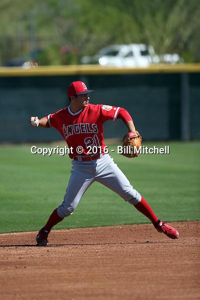 David Fletcher - Los Angeles Angels 2016 spring training (Bill Mitchell)