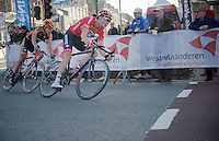 Stig Broeckx (BEL) leading with 2 local laps left to go<br /> <br /> 3 Days of West-Flanders <br /> stage 1: Brugge - Harelbeke 183km