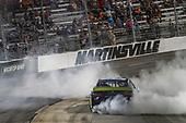 #19: Martin Truex Jr., Joe Gibbs Racing, Toyota Camry Auto Owners Insurance celebrates his victory