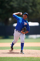 GCL Blue Jays starting pitcher Alvaro Galindo (71) during a game against the GCL Braves on August 5, 2016 at ESPN Wide World of Sports in Orlando, Florida.  GCL Braves defeated the GCL Blue Jays 9-0.  (Mike Janes/Four Seam Images)