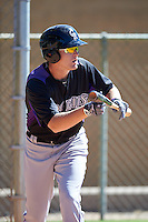 Colorado Rockies Tyler Nevin (30) during practice before an Instructional League game against SK Wyvern of Korea on October 5, 2016 at Salt River Fields at Talking Stick in Scottsdale, Arizona.  (Mike Janes/Four Seam Images)
