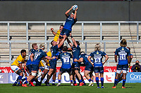 13th September 2020; AJ Bell Stadium, Salford, Lancashire, England; English Premiership Rugby, Sale Sharks versus Bath; Jono Ross of Sale Sharks wins a line out
