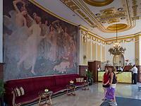Jugendstil im Hotel Moskva, Terazije Platz 20, Belgrad, Serbien, Europa<br /> Art Deco inside Hotel Moskva, Terazije square 20, Belgrade, Serbia, Europe