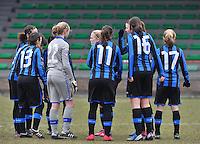 Club Brugge Dames - OHL Oud Heverlee Leuven : voor de wedstrijd bij de Brugse speelsters.foto DAVID CATRY / Vrouwenteam.be