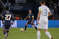 28th September 2021, Parc des Princes, Paris, France: Champions league football, Paris-Saint-Germain versus Manchester City:  Marquinhos ( 5 - PSG )