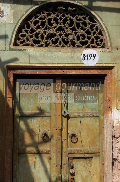 Asie/Inde/Rajasthan/Jaipur: Indra Market - Détail Porte