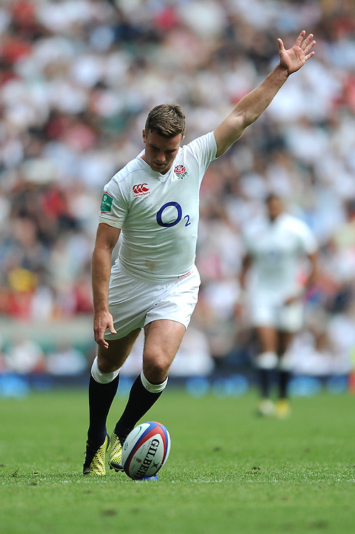 George Ford of England misses another conversion attempt during the Old Mutual Wealth Cup match between England and Wales at Twickenham Stadium on Sunday 29th May 2016 (Photo: Rob Munro/Stewart Communications)