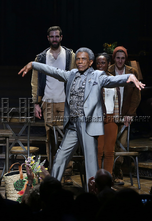 Andre De Shields during Broadway Opening Night Performance Curtain Call for 'Hadestown' at the Walter Kerr Theatre on April 17, 2019 in New York City.
