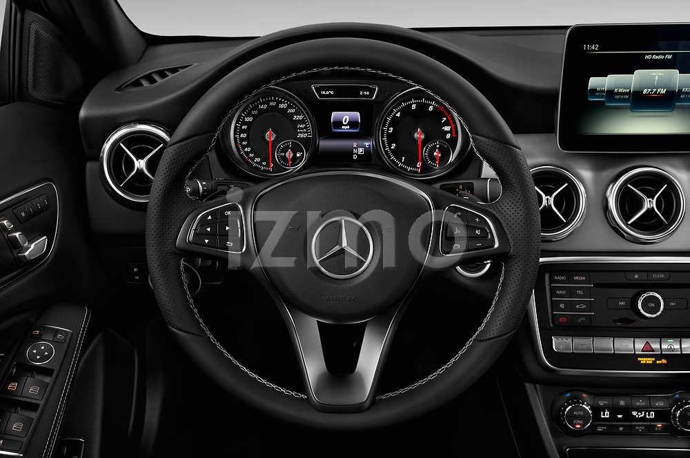 Car pictures of steering wheel view of a 2018 Mercedes Benz GLA Base 5 Door SUV