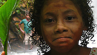 Rio Erepecuru; na bacia do rio Trombetas, transportando moradores e produtos para os territórios quilombolas e indígenas. Bacia do Trombetas. Oriximiná, Pará, Brasil.<br /> Foto Roberta Ramos