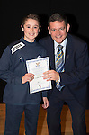 St Johnstone FC Academy Awards Night...06.04.15  Perth Concert Hall<br /> Chairman Steve Brown presents a certificate to Matthew Hanlon<br /> Picture by Graeme Hart.<br /> Copyright Perthshire Picture Agency<br /> Tel: 01738 623350  Mobile: 07990 594431