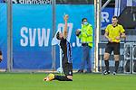 Jubelt nach seinem Treffer zum 5:2 Waldhofs Marcel Hofrath (Nr.31)  beim Spiel in der 3. Liga, SV Waldhof Mannheim - 1. Magdeburg.<br /> <br /> Foto © PIX-Sportfotos *** Foto ist honorarpflichtig! *** Auf Anfrage in hoeherer Qualitaet/Aufloesung. Belegexemplar erbeten. Veroeffentlichung ausschliesslich fuer journalistisch-publizistische Zwecke. For editorial use only. DFL regulations prohibit any use of photographs as image sequences and/or quasi-video.