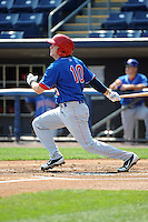 Auburn Doubledays outfielder Mike McQuillan (10) during game against the Staten Island Yankees at Richmond County Bank Ballpark at St.George on August 2, 2012 in Staten Island, NY.  Auburn defeated Staten Island 11-3.  Tomasso DeRosa/Four Seam Images